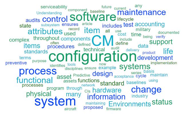 Configuration Management Word Cloud