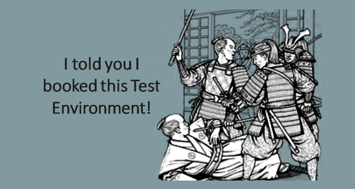 I booked the Test Environment